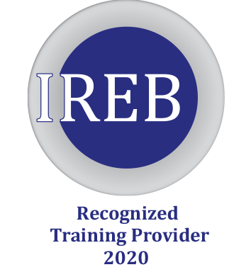 The IREB CPRE training with certification qualifies testers in requirements analysis and management for requirements engineering.